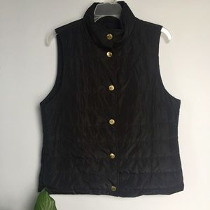 NWT Michael Kors black vest with golden buttons